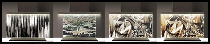 cr dences de cuisines d cor es en verre tremp imprim. Black Bedroom Furniture Sets. Home Design Ideas