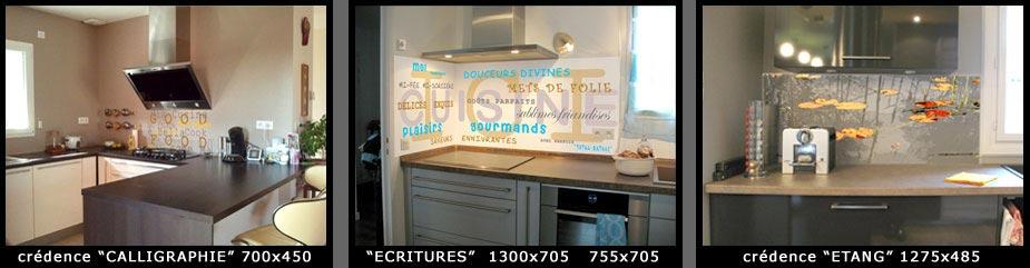 credence cuisine verre decore table de cuisine. Black Bedroom Furniture Sets. Home Design Ideas