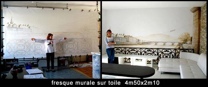 Decors muraux interieurs chic decor mural interieur lake for Fresque murale definition