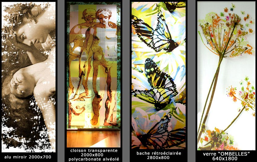 Panneaux d coratifs d cors sur panneaux plexis alu miroir for Impression en miroir