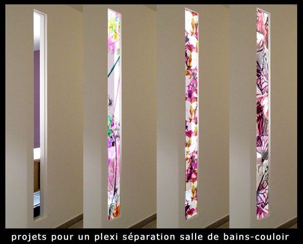 Panneaux d coratifs d cors sur panneaux plexis alu miroir - Tableau decoratif pour salle de bain ...
